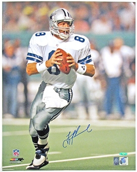 Troy Aikman Autographed Dallas Cowboys Super Bowl XXVIII 16x20 Photo Tristar