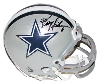 Troy Aikman Autographed Dallas Cowboys Mini Helmet (GAI COA)