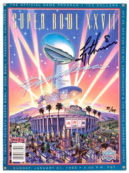 Troy Aikman Autographed Dallas Cowboys Super Bowl XXVII Official Game Programe (UDA)