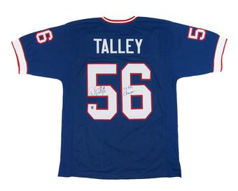 Darryl Talley Autographed Buffalo Bills Blue Football Jersey 4x AFC Champs