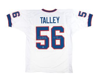 Darryl Talley Autographed Buffalo Bills White Football Jersey 4x AFC Champs