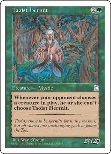 Magic the Gathering Portal 3: 3 Kingdoms Single Taoist Hermit - NEAR MINT (NM)