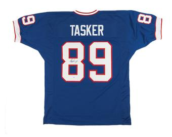 Steve Tasker Autographed Buffalo Bills Football Jersey
