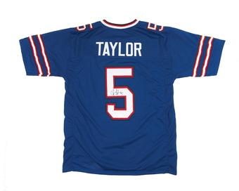 Tyrod Taylor Autographed Buffalo Bills Football Blue Jersey JSA