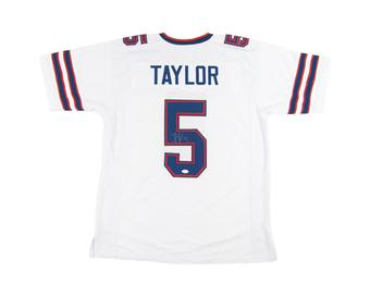 Tyrod Taylor Autographed Buffalo Bills Football White Jersey JSA