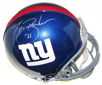 Tiki Barber Autographed Authentic Full Size New York Giants Helmet (Steiner COA)