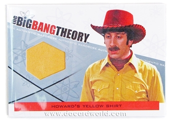 The Big Bang Theory Season 3 & 4 Costume Card - Howard's Yellow Shirt
