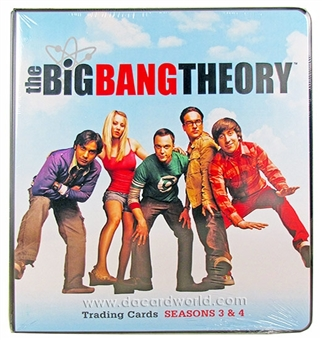 The Big Bang Theory Seasons 3 & 4 Trading Cards Binder/Album (Cryptozoic 2013)