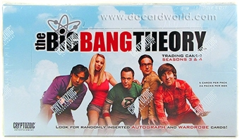The Big Bang Theory Seasons 3 & 4 Trading Cards Box (Cryptozoic 2013)