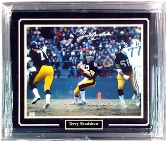 Terry Bradshaw Pittsburgh Steelers Autographed & Framed 16x20 Photo