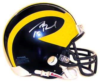 Tom Brady Autographed Univ. Michigan Wolverines Mini Helmet (Mounted Memories)