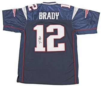 Tom Brady Autographed New England Patriots Reebok Authentic Jersey (Field of Dreams)