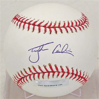 Tyler Colvin Autographed Baseball (Slightly Stained) (DACW COA)