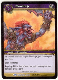 WoW Dark Portal Single Bloodrage (TDP-116) NM/MT