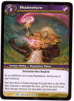 WoW Dark Portal Singles 4x Shadowburn (TDP-113) NM/MT