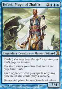 Magic the Gathering Time Spiral Single Teferi, Mage of Zhalfir LIGHT PLAY (NM)