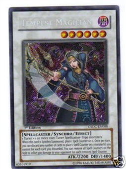 Yu-Gi-Oh Crossroads of Chaos Single Tempest Magician Secret Rare