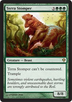 Magic the Gathering Zendikar Single Terra Stomper Foil
