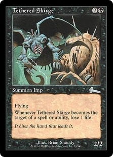 Magic the Gathering Urza's Legacy Single Tethered Skirge Foil