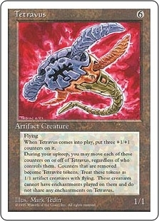 Magic the Gathering 4th Edition Single Tetravus - NEAR MINT (NM)