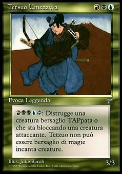 Magic the Gathering Legends Single Tetsuo Umezawa ITALIAN - NEAR MINT (NM)