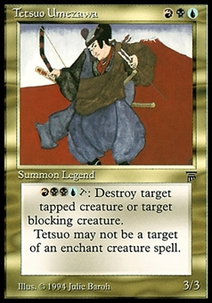 Magic the Gathering Legends Single Tetsuo Umezawa - MODERATE PLAY (MP)
