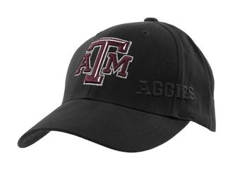 Texas A&M Aggies Top Of The World Hidden Black Adjustable Hat (Adult One Size)