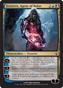 Magic the Gathering Mirrodin Besieged Single Tezzeret, Agent of Bolas Foil