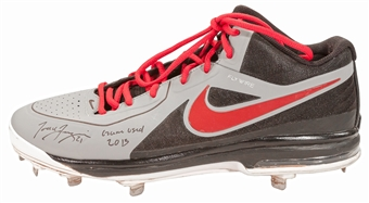 Todd Frazier Autographed Cincinnati Reds One Game Used Baseball Cleat