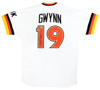Tony Gwynn Autographed San Diego Padres Mitchell & Ness Throwback Jersey (Mounted Mem)