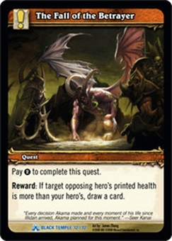 WoW Black Temple Single The Fall of the Betrayer (BTT-12) FOIL