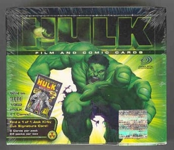 Hulk Movie Cards Hobby Box (2003 Upper Deck)
