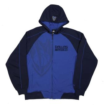 Dallas Mavericks Adidas Navy Full Zip Fleece Hoodie (Adult M)