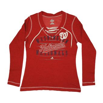 Washington Nationals Majestic Red Brink Of Victory Fleece (Womens L)