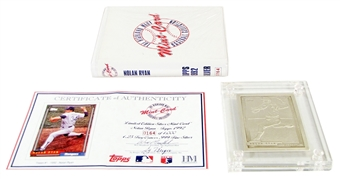 Nolan Ryan Highland Mint 1992 Topps Silver Mint Card #164/1000