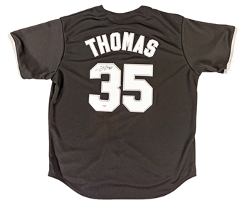 Frank Thomas Autographed Chicago White Sox Black Baseball Jersey (PSA)