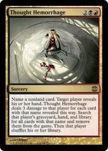 Magic the Gathering Alara Reborn Single Thought Hemorrhage UNPLAYED (NM/MT)
