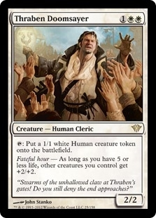 Magic the Gathering Dark Ascension Single Thraben Doomsayer UNPLAYED (NM/MT)