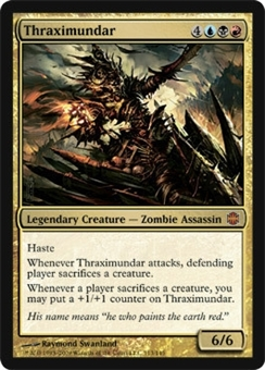 Magic the Gathering Alara Reborn Single Thraximundar Foil - SLIGHT PLAY (SP)