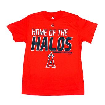 Los Angeles Angels Majestic Red Laser Like Focus Tee Shirt (Adult L)