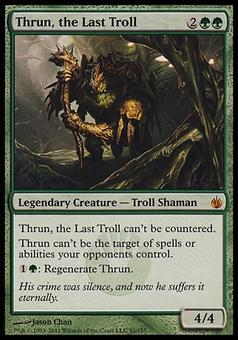 Magic the Gathering Mirrodin Besieged Single Thrun, the Last Troll FOIL - MODERATE PLAY (MP)