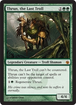 Magic the Gathering Mirrodin Besieged Single Thrun, the Last Troll - NEAR MINT (NM)