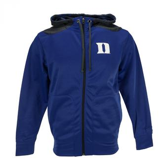 Duke Blue Devils Colosseum Blue Oil Slick Full Zip Performance Fleece Hoodie