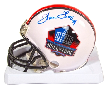 Thurman Thomas Autographed Buffalo Bills Hall of Fame Football Mini Helmet