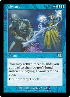 Magic the Gathering Mercadian Masques Single Thwart Foil