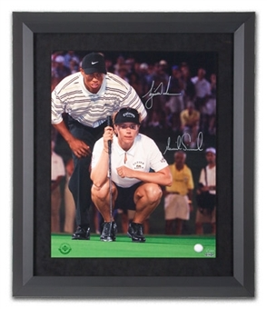 Tiger Woods / Annika Sorenstam Autographed Framed 16x20 Golf Photo