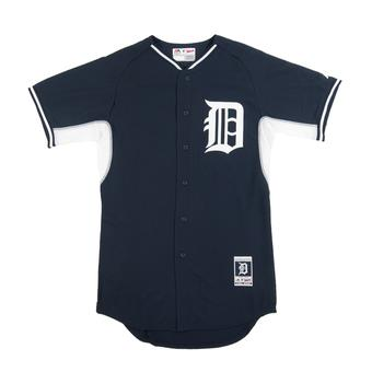 Detroit Tigers Majestic Navy BP Cool Base Authentic Performance Jersey (Adult 52)