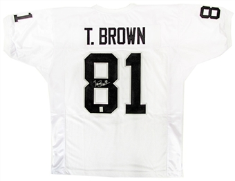 Tim Brown Oakland Raiders Autographed Football Jersey