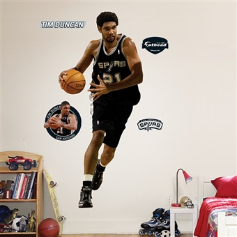 Tim Duncan San Antonio Spurs Fathead Life Sized Wall Graphic