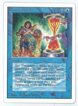 Magic the Gathering Unlimited Single Timetwister - NEAR MINT MINUS/SLIGHT PLAY (NM-/SP)